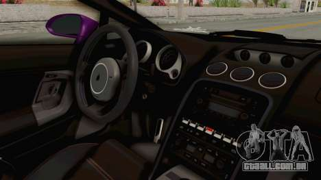 Lamborghini Gallardo 2015 Liberty Walk LB para GTA San Andreas vista interior
