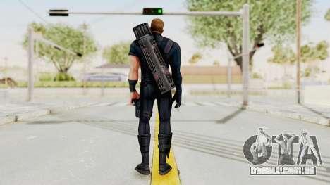 Captain America Civil War - Hawkeye para GTA San Andreas terceira tela