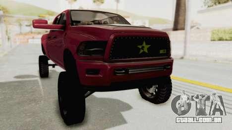 Dodge Ram Megacab Long Bed para GTA San Andreas vista direita