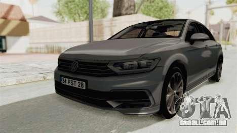 Volkswagen Passat B8 2016 RLine HQLM para GTA San Andreas