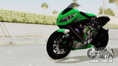 Kawasaki Ninja 250FI Kochiya Sanae Itasha para GTA San Andreas