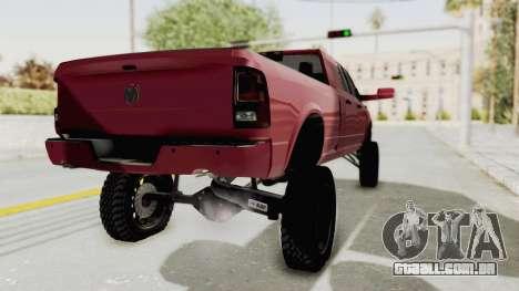 Dodge Ram Megacab Long Bed para GTA San Andreas traseira esquerda vista