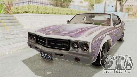 GTA 5 Declasse Sabre GT2 B para GTA San Andreas