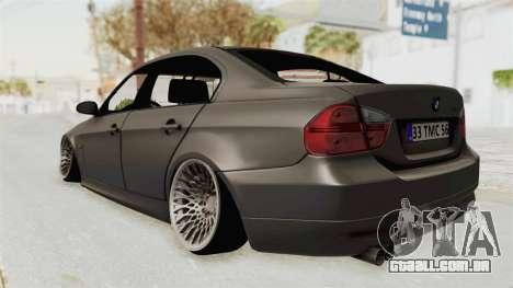 BMW 330i E92 Camber para GTA San Andreas traseira esquerda vista