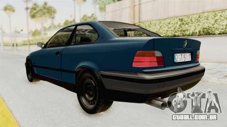 BMW 325i E36 para GTA San Andreas esquerda vista