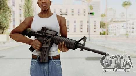 HD M4 v1 para GTA San Andreas terceira tela