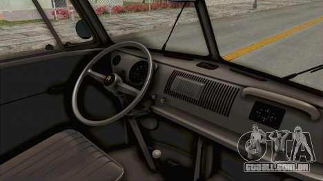 Volkswagen T1 Station Wagon De Luxe Type2 1963 para GTA San Andreas vista interior