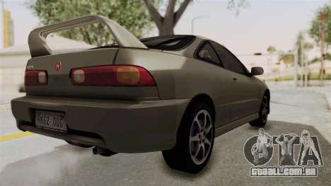 Acura Integra Fast N Furious para GTA San Andreas esquerda vista
