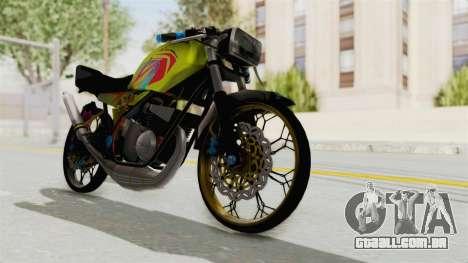 Yamaha RX King 200 CC Killing Ninja para GTA San Andreas traseira esquerda vista
