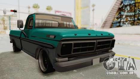 Ford F-150 Black Whells Edition para GTA San Andreas vista direita