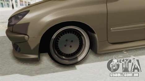 Peugeot 206 para GTA San Andreas vista traseira