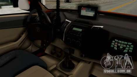 Toyota Fortuner JPJ Orange para GTA San Andreas vista traseira