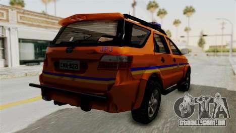 Toyota Fortuner JPJ Orange para GTA San Andreas vista direita