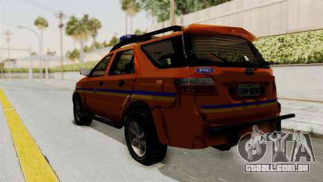 Toyota Fortuner JPJ Orange para GTA San Andreas esquerda vista