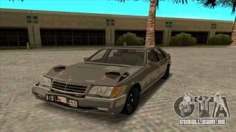 Mercedez-Benz W140 para GTA San Andreas vista traseira