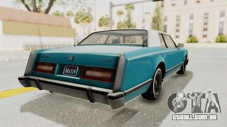 GTA 5 Dundreary Virgo Classic Custom v3 para GTA San Andreas esquerda vista