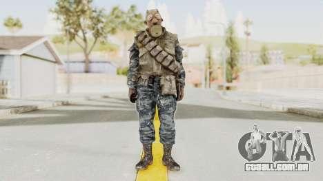COD BO Russian Spetznas Flak MP v4 para GTA San Andreas segunda tela
