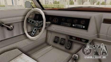 GTA 5 Declasse Sabre GT2 B para GTA San Andreas vista interior