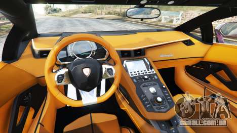 GTA 5 Lamborghini Aventador v1.1 traseira direita vista lateral