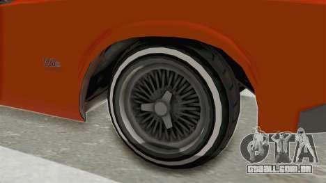 GTA 5 Declasse Sabre GT2 B para GTA San Andreas vista traseira