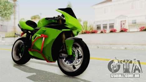 Ducati 998R Modif Stunt para GTA San Andreas vista direita
