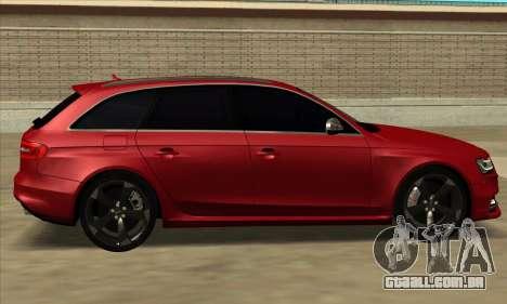 Audi S4 Avant para GTA San Andreas traseira esquerda vista