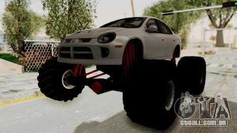 Dodge Neon Monster Truck para GTA San Andreas traseira esquerda vista