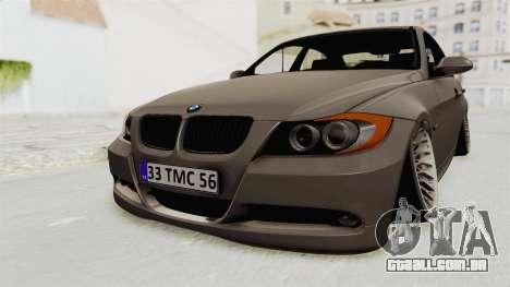 BMW 330i E92 Camber para GTA San Andreas vista direita