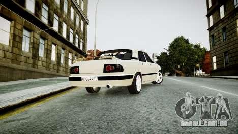 GAZ 3110 Turbo WRX STI para GTA 4 traseira esquerda vista