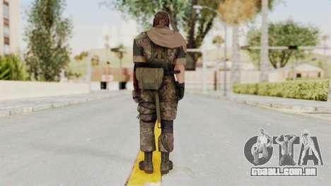 MGSV The Phantom Pain Venom Snake Scarf v6 para GTA San Andreas terceira tela