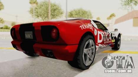 DiNka Bullet para GTA San Andreas traseira esquerda vista