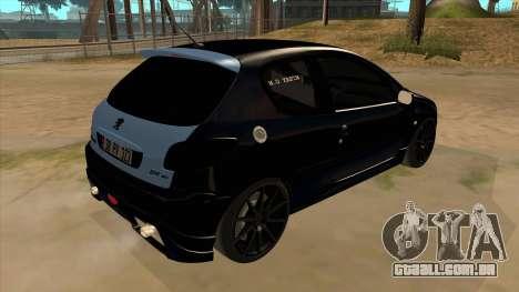 Peugeot 206 MO Edit para GTA San Andreas vista direita