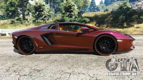 GTA 5 Lamborghini Aventador v1.1 vista lateral esquerda
