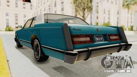 GTA 5 Dundreary Virgo Classic Custom v3 para GTA San Andreas vista direita