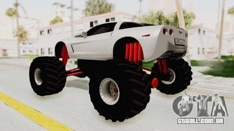 Chevrolet Corvette C6 Monster Truck para GTA San Andreas esquerda vista