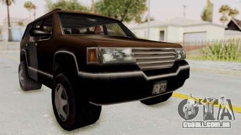 Landstalker from GTA 3 para GTA San Andreas vista direita
