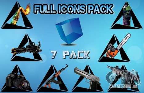 Full Icons Pack para GTA San Andreas