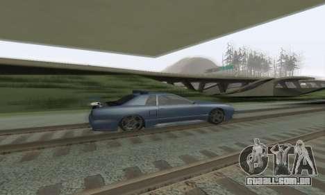 Padrão Elegia com um retrátil spoiler para GTA San Andreas vista interior