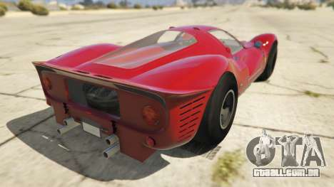 GTA 5 Ferrari 330 P4 1967 traseira vista lateral esquerda