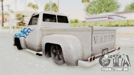GTA 5 Slamvan Lowrider PJ1 para GTA San Andreas esquerda vista