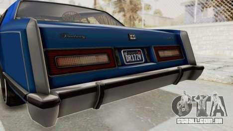 GTA 5 Dundreary Virgo Classic Custom v1 IVF para GTA San Andreas vista inferior
