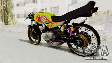 Yamaha RX King 200 CC Killing Ninja para GTA San Andreas vista direita