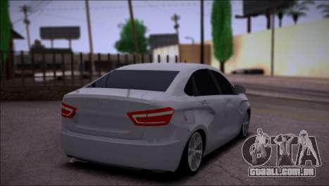 Lada Vesta Stock para GTA San Andreas vista direita