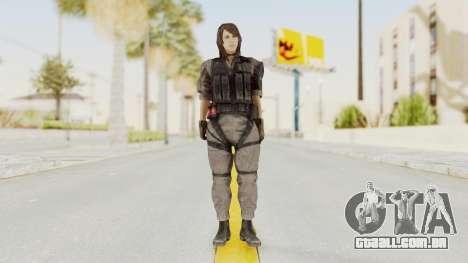 MGSV Phantom Pain Quiet XOF v2 para GTA San Andreas segunda tela