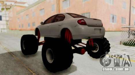 Dodge Neon Monster Truck para GTA San Andreas esquerda vista