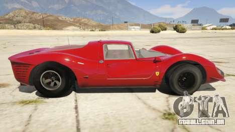 GTA 5 Ferrari 330 P4 1967 vista lateral esquerda