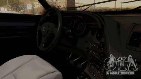 Jester Supra para GTA San Andreas vista interior