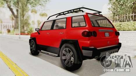 GTA 5 Karin Beejay XL IVF para GTA San Andreas esquerda vista