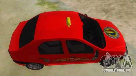 Dacia Logan Scoala para GTA San Andreas vista interior