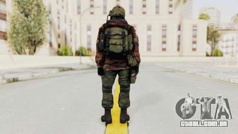 Battery Online Russian Soldier 10 v2 para GTA San Andreas terceira tela